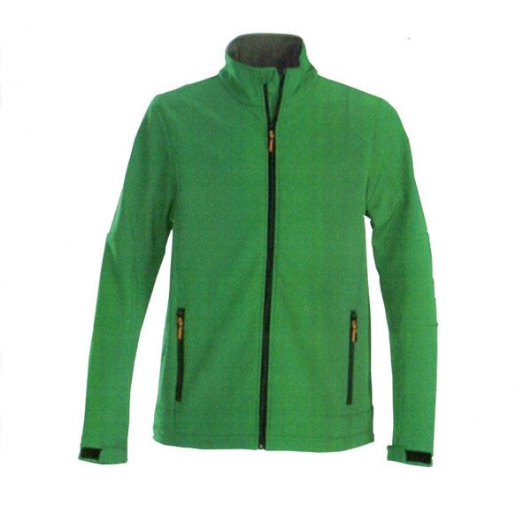 Softshell de couleur verte