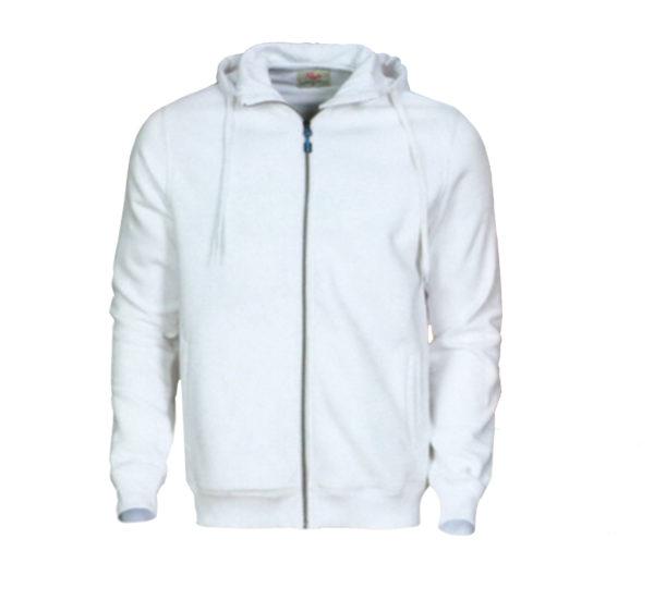 Veste à capuche de couleur blanche