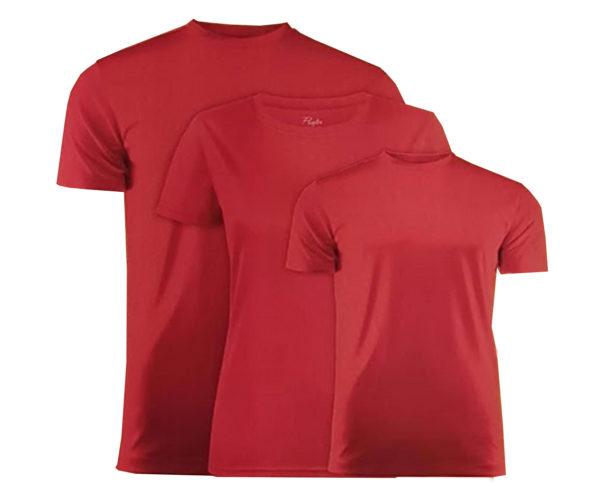 T-shirt de couleur rouge